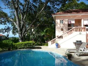 Three bedroom ocean view villa for rent or sale in Sosua , DR