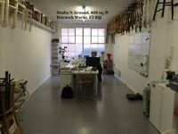 400 sq/ft studio, ground floor, natural light, good access, Warwick Works, Hackney Downs, E5 8QJ