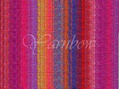 NORO ::Kureyon #102:: wool knitting yarn Pink-Yellow-Red-Blue