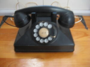 Vintage North Electric Rotary Telephone Art Deco Style Desk Phon