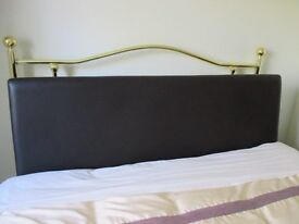 4ft 6 Faux Leather Headboard never been used but has no fixings