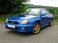 SUBARU IMPREZA WRX STI WRC BLUE 2002