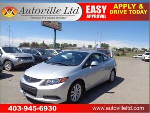 2012 Honda Civic Coupe EX-L LOW  KM  Leather Navigation Sunroof