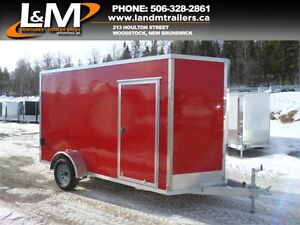 NEW 2017 STEALTH 6X12' ALUMINUM ENCLOSED CARGO TRAILER