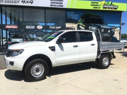 2013 Ford Ranger PX XL 3.2 (4x4) White 6 Speed Automatic Dual Cab Chassis Tuncurry Great Lakes Area Preview