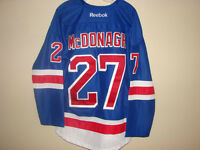 #27 RYAN MCDONAUGH NEW YORK RANGERS HOME BLUE JERSEY SIZE LARGE