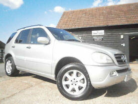0303 MERCEDES-BENZ ML270 2.7 CDI 4X4 TURBO DIESEL AUTOMATIC 7 SEATER SILVER