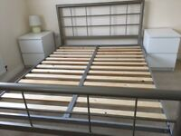 Double Metallic Bed frame: Excellent condition £150 ono