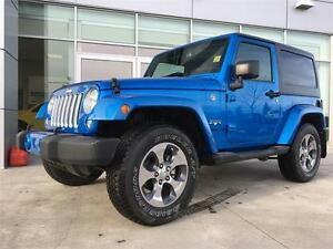 2016 JEEP WRANGLER SAHARA MANUAL LIMITED IN HYDRO BLUE  !!