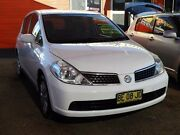 2009 Nissan Tiida C11 MY07 ST White 4 Speed Automatic Hatchback Mount Druitt Blacktown Area Preview