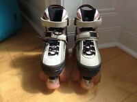 Girls adjustable quad roller skates, size 12-2
