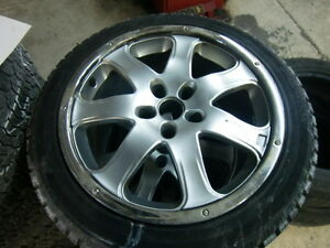 "18"" STUDED RIMS WITH HANCOOK IPIKE WINTER 245/45/R18 LIKE NEW!"