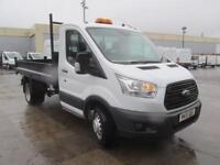 Ford Transit 350 L2 2.2 Tdci 125Ps S/Cab Tipper DIESEL MANUAL WHITE (2015)