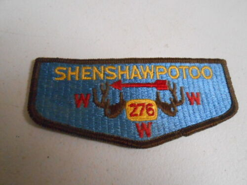 Shenshawpotoo Lodge 276 brown antlers, BSA Boy Scout Patch