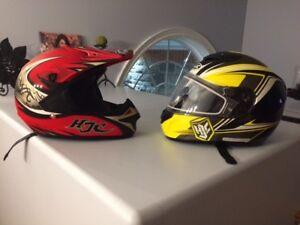 HJC Predator Motocross Helmet (Red/Black)