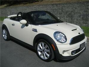 2012 MINI COOPER S ROADSTER (MANUELLE, CUIR, AIR, MAGS, FULL!!!)