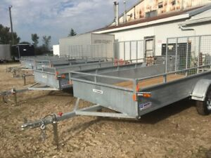 6x12 Heavy Duty Open Galvanized trailer