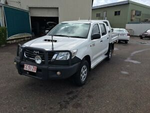 2013 Toyota Hilux KUN26R MY12 SR (4x4) White 4 Speed Automatic Dual Cab Pick-up Holtze Litchfield Area Preview