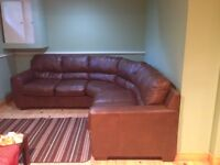 Excellent Condition Sectional Leather blended Sofa $500
