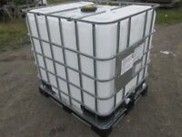 1000 LITRE IBC CONTAINER TANKS