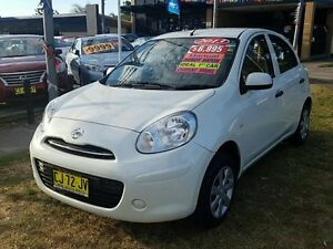 2013 Nissan Micra K13 Upgrade ST White Pearl 5 Speed Manual Hatchback Five Dock Canada Bay Area Preview