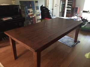 Solid Wood Extendable Dining Table For Sale