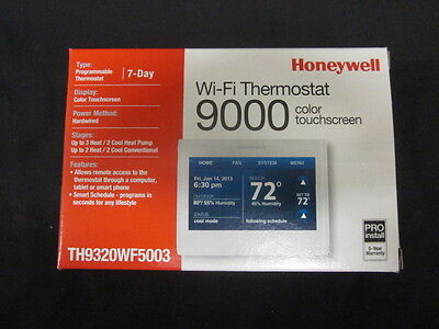 Honeywell Wifi 9000 Color Touchscreen 3h2c Thermostat - Th9320wf5003
