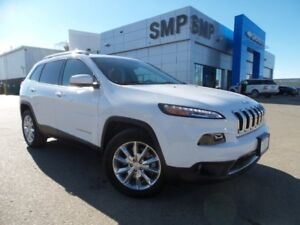 2017 Jeep Cherokee Limited- Leather, SRoof, Nav & Rem.Start