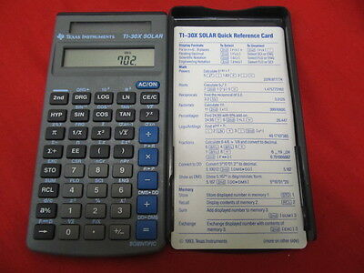TI Texas Instruments TI-30X Solar Calculator