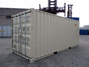 20 Foot C Sea Can Shipping Container White New 1 Way  $3799.99