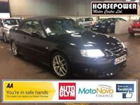 2004 Saab 9-3 2.0 T Aero 2dr Petrol black Manual