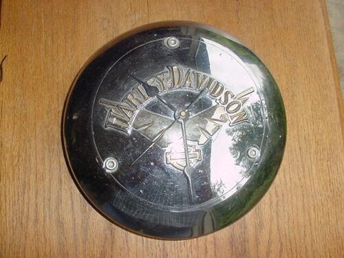 OLD VINTAGE HARLEY-DAVIDSON HUBCAP CLOCK USA