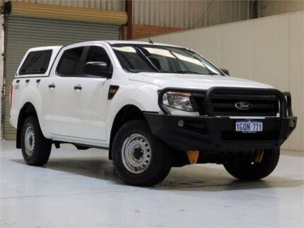 2014 Ford Ranger PX XL Double Cab White 6 Speed Sports Automatic Utility Bibra Lake Cockburn Area Preview