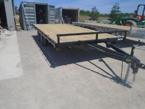 5 TON DECK OVER EQUIPMENT TRAILER - SALE PRICED, 102''X18' LONG London Ontario image 2
