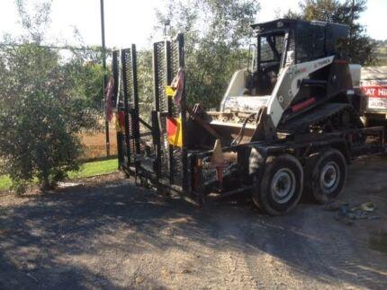 Plant trailer for Excavator or bobcat, Heavy duty tandem trailer