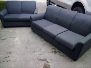 Love seat ($60) and sofa ($80)