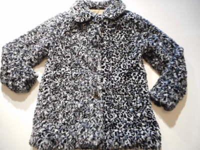 Coats Girls outerwear Jackets Black swirl Dressy Coat Girls clothes Warm  7/8