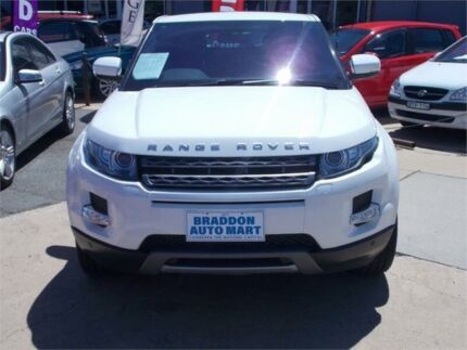 2012 Land Rover Range Rover Evoque LV SD4 Pure White 6 Speed Automatic Wagon Fyshwick South Canberra Preview