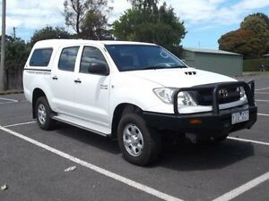 2010 Toyota Hilux GGN25R MY11 Upgrade SR (4x4) White 5 Speed Manual Dual Cab Utility Timboon Corangamite Area Preview
