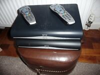 TWO Sky satellite boxes with handsets (with router if req'd)