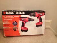 ***BARGIN*** BRAND NEW BOXED !! 2 x Black & Decker Cordless Drills (Twinpack)