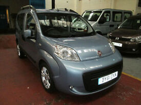 61 FIAT QUBO RIDE UP FRONT WHEELCHAIR ADAPTED 50 + ADAPTED VEHICLES IN STOCK