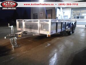 16' TANDEM AXLE ALUMINUM UTILITY - TONS OF FEATURES, NO RUST!