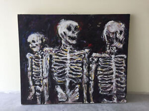 Skeletons Oil on Canvas