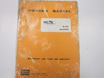 Bobcat M-160 Backhoe Operators Manual