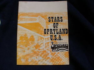 vintage 1973 stars of Opryland souvenir book  signed Kitty Wells