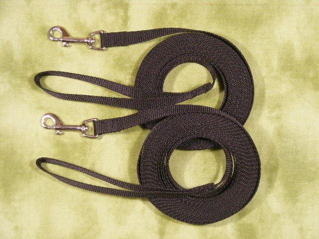 LOT of 15 Dog Leashes 10 feet long training line BLACK