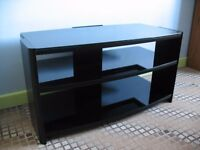 Highest quality black glass TV Stand with steel frames