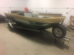 CUSTOM 15 FT FISHING BOAT WITH TRAILER