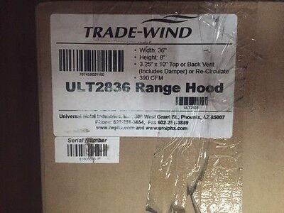 Trade-wind / Summit ULT2836 Ultra Series Stainless Steel 36 in Range Hood (NEW)